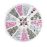 1pcs Manicure Diamond White AB Imitation Drill Box