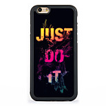 Just Do It Pattern Design Metal Coated TPU Frame Back Case for iPhone 7 7 Plus 6s 6 Plus SE 5s 5c 5 4s 4
