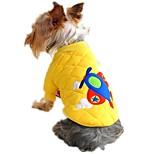 Gatos / Perros Abrigos / Sudadera Rojo / Amarillo / Azul Ropa para Perro Invierno / Verano / Primavera/Otoño CaricaturasAdorable /