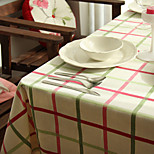 Rectangular Patterned / Gingham Table Cloth , 100% Cotton MaterialHotel Dining Table / Wedding Party Decoration / Wedding Banquet Dinner