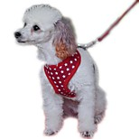Dog Harness / Leash Adjustable/Retractable / Breathable / Running / Vest / Safety / Cosplay / Soft / Casual StarsRed / Black / Blue /