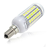 69LED E14 LED Corn Lights 10W SMD 5730 Warm / Cool White Chandelier Light Bulb Lamp(AC220-240V)