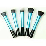 5 Pennello da fondotinta / Contour Brush / Pennello per cipria / Pennello a ventaglio / Pennello per polveri Capelli sinteticiViaggi /