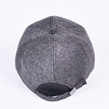 More middle-aged and old baseball cap Men's skin along the woolen cloth cap Warm earmuffs cotton padded cap Breathable / Comfortable