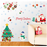 Christmas Wall Stickers Plane Wall Stickers / Mirror Wall Stickers Decorative Wall StickersPVC Material Re-Positionable Home Decoration