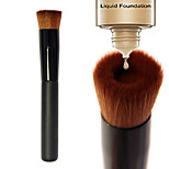 1pcs Foundation Brush Nylon Synthetic Hair Professional  Eco-friendly Limits bacteria Portable Wood Face Others Cosmetic Makeup Brush