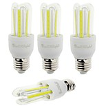 YouOKLight 4PCS E27 7W 600lm 6000K 6-COB LED White Light Corn Lamp(AC85-265V)