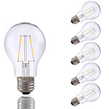 2W E26 LED Filament Bulbs A19 2 COB 220 lm Warm White Dimmable 120V 6 pcs