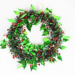 Christmas Wreath Pine Needles Christmas Decoration For Home Party Diameter 35cm Navidad New Year Supplies