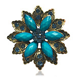 Women's Fashion Alloy/Rhinestone/Resin Flower Brooches Pin Party/Daily/Casual Scarf Clips Jewelry Accessory 1pc