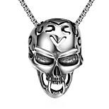 Муж. Ожерелья с подвесками Нержавеющая сталь В форме черепаУникальный дизайн В виде подвески Панк По заказу покупателя Хип-хоп Rock