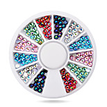 1pcs  3mm Nail Art Glitter Rhinestone Wheel Nail