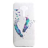 For ASUS Zenfone 3 ZE552KL Zenfone 3 ZE520KL Case Cover Feather Pattern High Permeability Painting TPU Material Phone Case