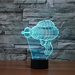 Electric Drill Touch Dimming 3D LED Night Light 7Colorful Decoration Atmosphere Lamp Novelty Lighting Christmas Light