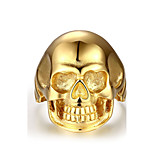 Ring Stainless Steel Skull / Skeleton Golden Jewelry Halloween Daily Casual Sports 1pc