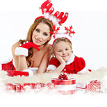 Children Dress Up Adult Decorative Supplies Christmas Gift Hair Hoop Feathers Antlers Head Hoop Headdress  Random Color