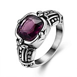 Ring AAA Cubic Zirconia Steel Fashion Purple Jewelry Wedding Party Halloween Daily Casual Sports 1pc