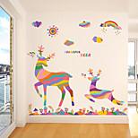 Animais / Natal Wall Stickers Autocolantes de Aviões para Parede Autocolantes de Parede Decorativos,pvc Material RemovívelDecoração para