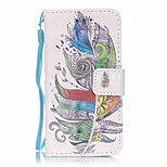 Colorful Feathers 3D Painting PU Phone Case for apple iTouch 5 6