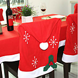 1PCS Christmas Decorations Non-woven Snowflakes Chair Covers 50*65Cm