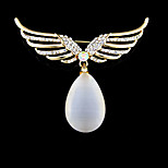 Women's Brooches Fashion Wings / Feather Golden Jewelry Wedding Party Daily Casual