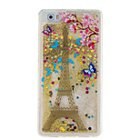For Huawei P9 P8 Lite Cover Case Tower Pattern Glitter Powder Small Fresh Quicksand TPU Material Phone Case