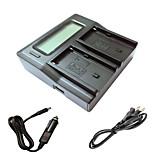 ismartdigi F550 FM500H LCD Dual зарядное устройство с кабелем для зарядки в автомобиле для Sony NP-F550 NP-F330 NP-F530-нп Аккумуляторы