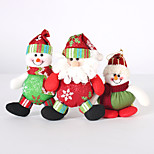 3PC Collapsible Hot Sale Christmas Decoration Santa Claus Snowman Christmas Figurines