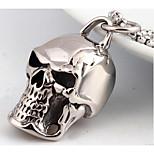 Муж. Ожерелья с подвесками Бижутерия В форме черепа Титановая сталь Мода По заказу покупателя Панк Бижутерия Назначение Свадьба