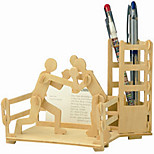 Jigsaw Puzzles Wooden Puzzles Building Blocks DIY Toys Boxing Pen Container 1 Wood Ivory Model & Building Toy
