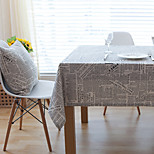 Square Patterned / Floral Table Cloth  Cotton Blend Material Hotel Dining Table / Table Decoration Random Color