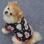Hunde T-shirt Schwarz / Weiss Hundekleidung Winter / Frühling/Herbst Schneeflocke Niedlich / Weihnachten