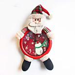 3fashion decoração presentes do Natal papel ofing enfeites de árvore de Natal Presente de Natal christmas clock parede