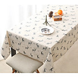 Rectangular Patterned Table Cloth , Linen Material Hotel Dining Table Wedding Banquet Dinner Home Decoration 1