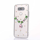 For LG G5 G4 K10 Rhinestone Case Back Cover Case Heart Hard PC For LG K7 LG K4 LG G3 LG V10