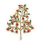 New Enamel Tree Shape Christmas Brooches Gifts