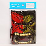Hulk Personality Cool Stereo Voltage Travel Passport Holder & ID Holder Waterproof / Dust Proof / Portable Travel Storage PVC