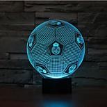 de football 3d gradation a mené la lumière de lampe de nuit ambiance décoration 7colorful éclairage nouveauté lumière de Noël