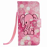 Pink Elephant Painting PU Phone Case for apple iTouch 5 6