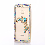 For Huawei P9 Plus Lite P8 Lite Rhinestone Case Back Cover Case Butterfly Hard PC  Honor 8 7 6 6Plus 5C 5X 4X 4C 4A Mate8 7