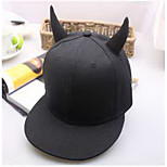 Cap Baseball Cap Cap Outdoor Sports Leisure Boom Warm  Comfortable Cotton BaseballSports Black Horn Hat