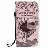 Castle Painting PU Phone Case for apple iTouch 5 6