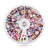 1pcs Mixed Fimo Resin Sequin Colorful Glitter Nail  Rhinestone Slice Decoration Manicure Nail Wheel