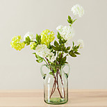 1 Branch Artificial Flowers 4 Heads Silk Hydrangea Decorative Flowers for Home Wedding Decoration
