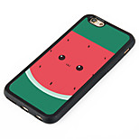 Watermelon  Pattern Design Metal CoatedTPU Frame Back Case for iPhone 7 7 Plus 6s 6 Plus SE 5s 5c 5 4s 4