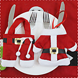 1Proteja (2pcs) diferentes estilos enfeite conversores modernos têm uma cobertura de facas e garfos natal clima festivo