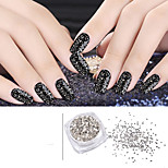 1set  (1pcs glass flake + 1pcs wooden stick) Nagel-Kunst-Dekoration Strassperlen Make-up kosmetische Nail Art Design