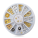 1pcs Cute Ocean Sea Life Gold Silver Alloy Nail Art Decorations Studs Wheel