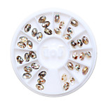 1Pcs Nail Art Decoration Rhinestone Pearls Makeup Cosmetic Nail Art Design Diamonte Sparkle Gems Crystal Sticker