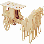 Jigsaw Puzzles Wooden Puzzles Building Blocks DIY Toys Even The Peng Carriage 1 Wood Ivory Model & Building Toy